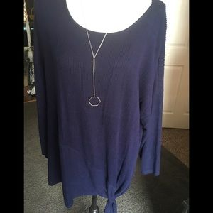 New womans super soft sweater w necklace 2X by AGB